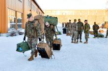 JAV jūrų pėstininkai atvyko į Norvegiją bandomajam dislokavimui