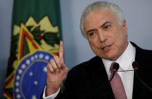 Brazilijos prezidentas teigia, kad teisėsaugos kaltinimai jo atžvilgiu yra fikcija