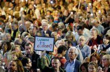 Katalonai protestuoja prieš separatistų lyderių sulaikymą