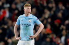 """""""Manchester City"""" žvaigždė ilgam iškrito iš rikiuotės"""
