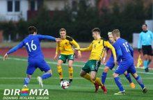 Lietuvos jaunimo futbolo rinktinė Europos čempionato atrankoje pralaimėjo suomiams