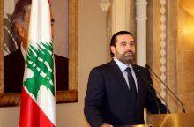 Libane S. Hariri palaikė generolo M. Aouno kandidatūrą rinkimams į prezidento postą