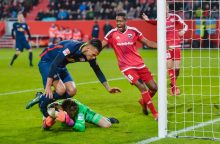 """""""Leipzig"""" netikėtai suklupo ir perleido Bundeslygos lyderių poziciją """"Bayern"""""""