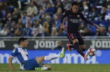 "Ispanijos futbolo čempionate ""Barcelona"" pavijo Madrido klubą"