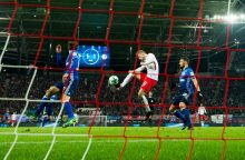 """Vokietijos galiūnų dvikovoje – """"RB Leipzig"""" pergalė"""