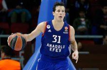 """""""Anadolu Efes"""" pasiekė antrą pergalę prieš """"Olympiakos"""""""