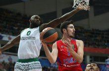 """Eurolygos čempionai turėjo vargo su """"Panathinaikos"""" krepšininkais"""