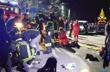 Kilus panikai Italijos naktiniame klube, žuvo 6 žmonės, dar 100 sužeista