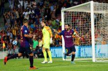 """Čempionų lyga prasidėjo """"Barcelona"""" ir """"Inter"""" pergalėmis"""