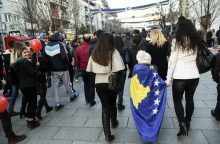 Kosovas paminėjo dešimtąsias nepriklausomybės nuo Serbijos metines