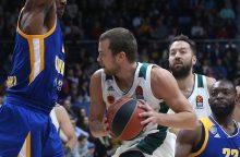 """L. Lekavičiaus atstovaujama """"Panathinaikos""""  Eurolygoje pralaimėjo"""