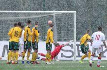 Lietuvos jaunimo futbolo rinktinė nusileido baltarusiams