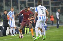 """""""Serie A"""": """"Roma"""" tvirtina pozicijas kovoje dėl sidabro"""