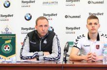 C. Falchą džiugina Lietuvos jaunimo futbolo rinktinės progresas
