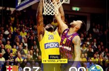 """""""Maccabi"""" krepšininkai nutraukė """"Barcelona"""" ekipos pergalių seriją"""