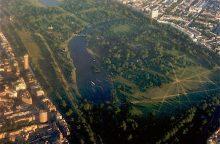 """Londono Haid parke rastas """"inertinis"""" minosvaidžio sviedinys"""