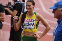 Nesustabdoma – A. Šerkšnienė trečią kartą šį sezoną pagerino Lietuvos rekordą