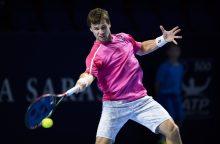 """R. Berankis baigė savo pasirodymą """"Swiss Indoors Basel"""" turnyre"""