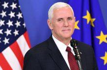 JAV viceprezidentas ramino dėl D. Trumpo susirūpinusią Europą