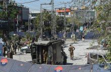 Prabangiame Pakistano rajone sprogus bombai žuvo mažiausiai šeši žmonės