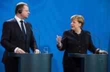 A. Merkel žada paramą, bet nekalba apie Astravo AE blokavimą