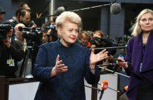 D. Grybauskaitė: ES ir britų derybose reikia pereiti nuo kalbų prie darbų