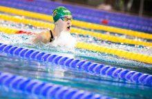 Plaukikė K. Teterevkova jaunimo olimpinėse žaidynėse iškovojo sidabro medalį