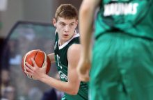 """""""Žalgiris""""  Eurolygos jaunių atrankos turnyre 55 taškų skirtumu nugalėjo VEF ekipą"""