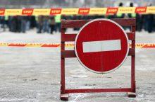 Bus laikinai draudžiamas eismas Giedraičių gatvės dalyje