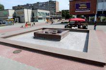 Debreceno aikštės fontanas veikė neilgai