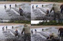 Žmonės patys gelbsti žuvis