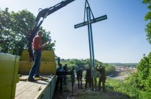 Nuvirtęs tremtinių kryžius – jau atstatytas