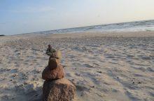 Palangos pakrantę lopys smėliu iš Šventosios
