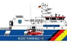 """""""Vakarų Baltijos laivų statykla"""" stato dalinai įrengtus patrulinių laivų korpusus"""