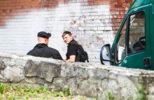 Daugiabučio namo kieme Vilniuje rastas sprogmuo