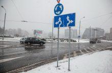 Tyrimas: naujasis Vilniaus žiedinių sankryžų ženklinimas pasiteisino